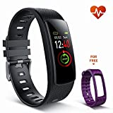 iKeeGan Fitness Armband Uhr Smart Armbanduhr mit Pulsmesser für Männer Damen