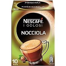 Nescafé Caffè Golosi Preparato Solubile in Polvere al Caffè e Nocciola - Scatola da 10 Bustine
