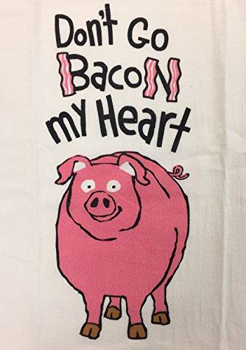 Little Blue House Mehl Sack Geschirrtuch Spültuch, Don 't Go Bacon My Heart (Speck Littles)