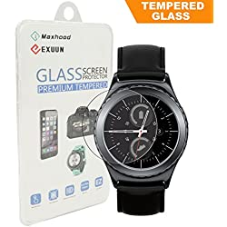 Samsung Gear S2 Classic Tempered Glass Screen Protector, Maxhood Real 0.3mm Premium Watch Tempered Glass Screen Protector Film for Gear 2S Classic
