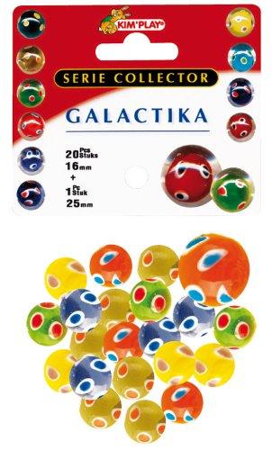 Kim'Play 9037 - Juegos al Aire Libre y Deportes, 20 bolas + 1 Calot Galactika