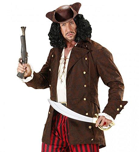 Piraten-Jacke mit goldenen Knöpfen für Herren - Braun - Fluch der Karibik, (Film Der Kostüme Fluch Karibik)