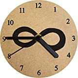 Azeeda 130mm 'Símbolo Infinito' Reloj de Pared pequeño MDF (CK00001519)