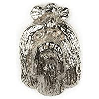 Bichón maltés Hecho en Reino Unido Artístico Perro Pin Insignia Colección