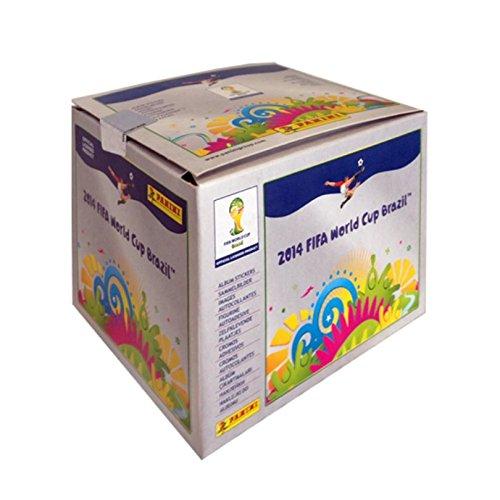 Panini 800606 - Fifa World Cup Brasil 2014, Sammelsticker im Display, 100 Tüten a 5 Sticker (World Sticker 2014 Cup Panini)