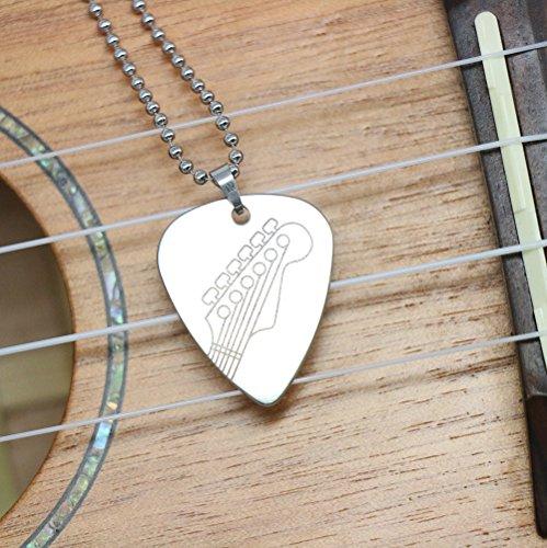 Acquaforte collana stile solido Metal Guitar Pick (logo1)