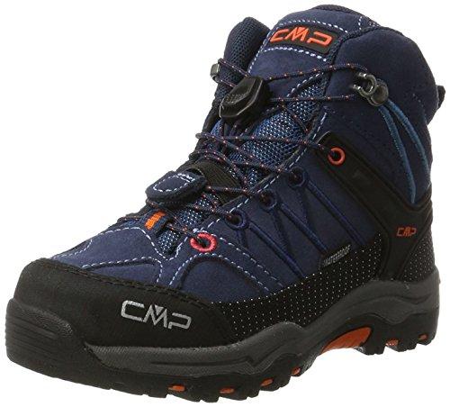 CMP Unisex-Kinder Rigel Mid WP Trekking-& Wanderstiefel, Türkis (Artico-Chili), 33 EU