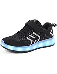 Aizeroth-UK LED Light up Trainers 7 Colors Luminous Flashing USB Charge Breathable Sport Running Shoes Gymnastic Tennis Sneakers Best Gift for Boys and Girls Birthday
