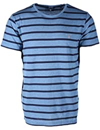 Gant Breton Stripe Crew-Neck Men's T-Shirt, Blue/Navy