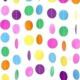 Coceca La decoración colgante de guirnalda a color de papel de puntos circulares de 20 metros, sirve para la decoración de la fiesta de cumpleaños y la boda
