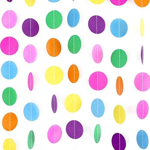 Coceca-66ft-colorata-carta-corona-con-dischi-di-carta-decorazione-per-festa-di-compleanno-e-matrimonio