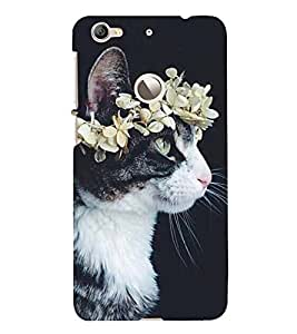 Cat with a Flower Crown 3D Hard Polycarbonate Designer Back Case Cover for LeEco Le 1s :: LeEco Le 1s Eco :: LeTV 1S