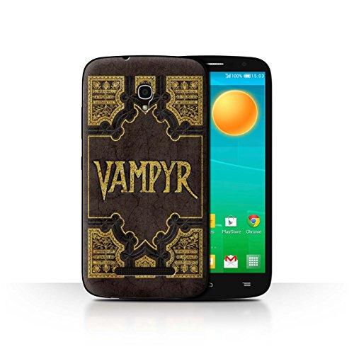Stuff4® Hülle/Case für Alcatel OneTouch Pop S9 / Vampyr Buch Muster/Vampirjägerin Kollektion