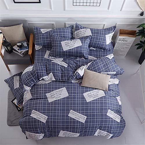 YUNSW Baumwolle Bettbezug Reine Farbe Bettbezug Twin Voll Königin King Size Bettwäsche Qualität Tröster Fall B 150x200 cm -