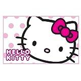 Kinder Mädchen Hello Kitty Bettvorleger / Teppich (50 x 80 cm) (Rosa/Weiß)