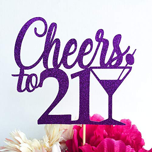 Claude6yhAly Beliebig viele Toppers Cheers Cake Topper 21 Cake Topper Martini-Glas 30 Toppers 40 Toppers 50 Toppers Cheers to Topper