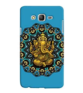 ColourCrust Samsung Galaxy ON7 Mobile Phone Back Cover With Lord Ganesha Ganpati Devotional - Durable Matte Finish Hard Plastic Slim Case