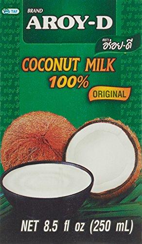 AROY-D Kokosmilch (Fettgehalt ca. 19% - Ideal zum Kochen, Backen, für Desserts und Cocktails) 18er Vorteilspack à 250ml