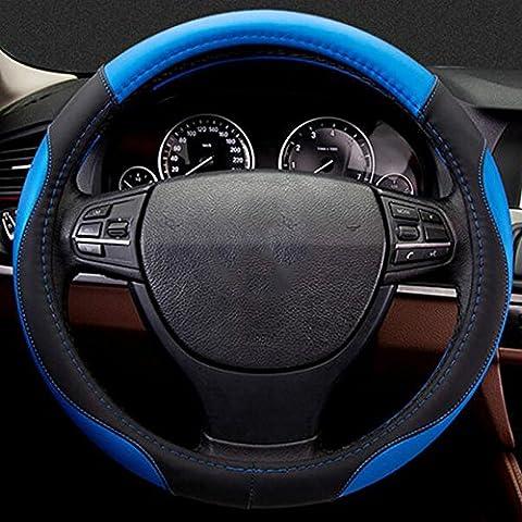 Housse de volant de voiture pour Acura ZDX MDX RDX, ROMEO 147156159Giulietta, Audi A3A4A5A6Q3Q5Q7, bleu