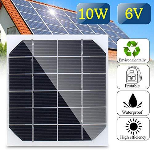 Monokristallines Solarmodul, 10 W, 6 V, Poly-Solarpanel-Batterie-Ladegerät für kleine Energieerzeugung für Wissenschaftsprojekte - Spielzeug - Batterieladegerät
