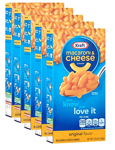 Kraft Macaroni and Cheese The Cheesiest, 5er Pack (5 x 206 g Packung) - Fleisch Ruck