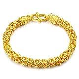 Aoligei Vietnam Goldschmuck Dominant Retro-Glatte Wasserhahn Armband Männer Messing Vergoldet 24k