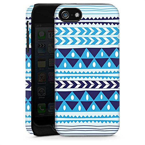 Apple iPhone 5s Housse étui coque protection Triangles Triangles Triangles Cas Tough brillant