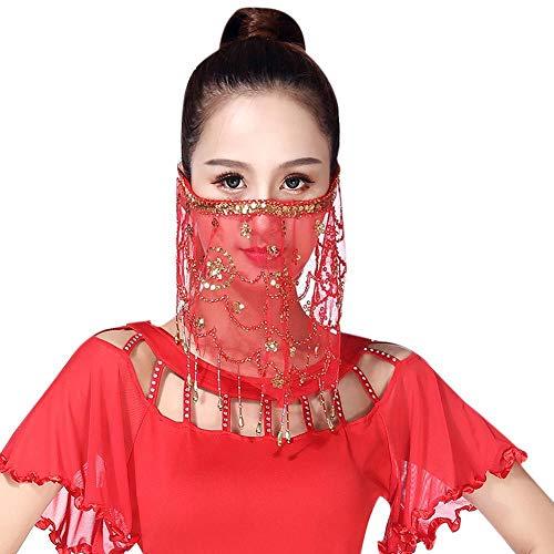 Yalatan Frauen Bauchtanz Stammes- Gesichtsschleier mit Halloween Kostüm ()