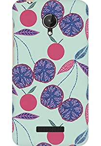 AMEZ designer printed 3d premium high quality back case cover for Micromax Canvas Spark Q380 (fruits floral)
