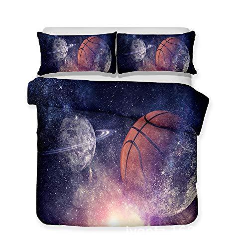 hllhpc 3D Serie Tessili da Basket Biancheria da Letto Trapunta Esplosione a Tre Pezzi 12 220 * 230 cm