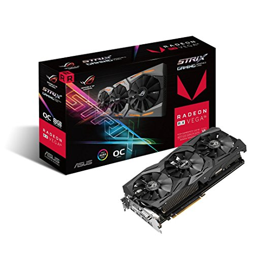 Asus ROG-STRIX-RXVEGA56-O8G-GAMING Scheda Video, Nero