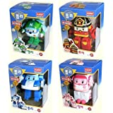 ROBOCAR POLI Poli + Helly + Amber + Roy (Transformable Robot Toys)