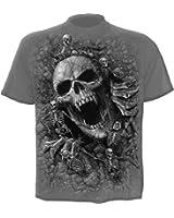 Spiral - Men - SKULLS COVE - T-Shirt Black Charcoal