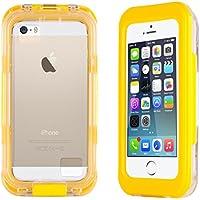 JAMMYLIZARD | Schutzhülle Salamander Waterproof für iPhone 55S, 5C und 4, gelb