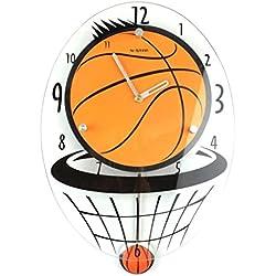 GuoEY Reloj de pared Industrial hermosos hijos creative cartoon mute casa-salón del baloncesto de la personalidad del modo reloj de pared Reloj de pared giro decorativo