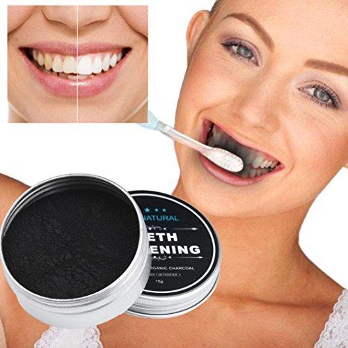 gaddrt Zahnaufhellung Pulver natürliche organische Aktivkohle Holzkohle Zahnpasta -