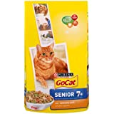 Go-Cat Dry Cat Senior Food Chicken/Rice and Added Vegetables, 2 kg - Pack of 4