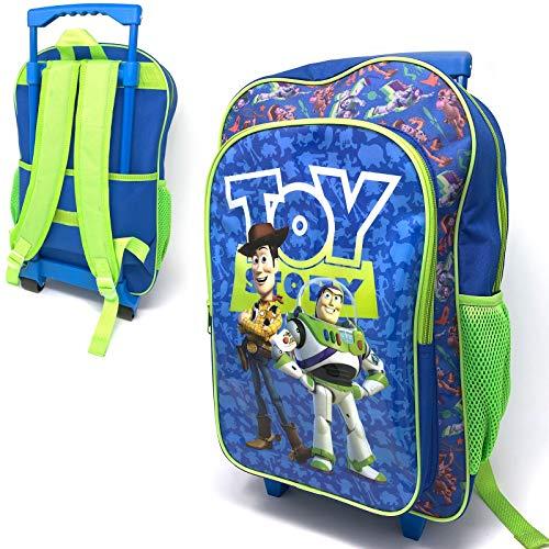 Kinder Toy Story 4 Charakter Gepäck Luxus Rollen Trolley Rucksack Koffer Handgepäck Schultasche (Gepäck Toy Story)