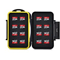 King of Flash MCSD16 Water Resistant Seal High Quality Mass Storage Memory Card Case Holder for 16 x MicroSD Micro SDHC Cards