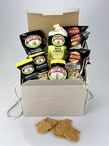 Love it or hate it MARMITE Hamper Food Gift Box - Nuts, Crisps, Biscuits etc - Unique Gift
