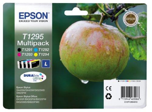 Preisvergleich Produktbild Epson Original T1295 Tinte, Apfel, wisch- und wasserfeste (Multipack, 4-farbig) (CYMK)