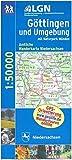 Topographische Sonderkarten Niedersachsen. Sonderblattschnitte auf der Grundlage der amtlichen topographischen Karten, meistens grösseres ... Wanderkarte 1:50.000 / Göttingen und Umgebung -