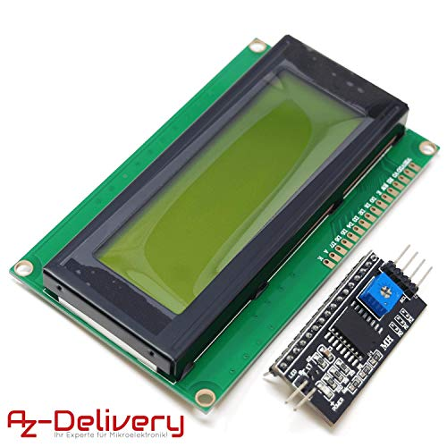 AZDelivery HD44780 2004 LCD Display verde Modulo pantalla