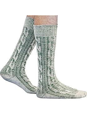 German Wear Kurze Trachtensocken Trachtenstrümpfe Zopf muster Socken 44cm