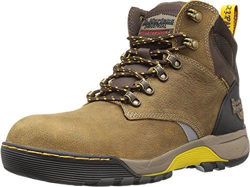 Dr. Martens Women's Ridge Steel Toe 6 Tie Boots, Brown, 5 M UK, 7 M US Brown Steel Toe Boots