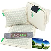 Preisvergleich für Akupressurmatte: Entspannung für den Rücken, Nacken & Füße. Das Akupressur-Set mit Nadeln um die Verspannungen...