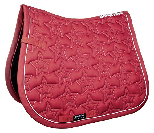 HKM Sports Equipment GmbH Schabracke-Bibi&Tina Star Sattel-& Zaumzeug, rot, Pony Dressur
