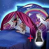 XPartner Kinder Pop-Up Traumzelt Leuchtzelt Einhorn Faltzelt