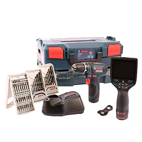Cámara térmica GTC 400C en L-BOXX + atornillador inalámbrico GSR 12V-15+ Set de accesorios de 39piezas en I-BOXX + i-Rack Bosch 06159940l2