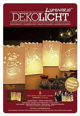 """Tischlichttüten-Mix """"Weihnachtszeit"""", 8-tlg. von Luminaria auf Lampenhans.de"""